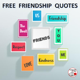 FREE . . .  FRIENDSHIP Quotes for Bulletin Boards . . . FREEBIE