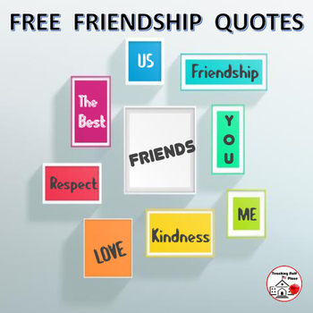 FREE . . .  FRIENDSHIP Quotes for Bulletin Boards ⭐ FREEBIE