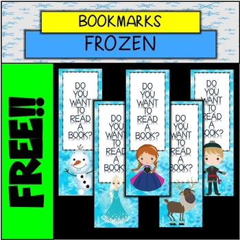 FREE FROZEN INSPIRED BOOKMARKS