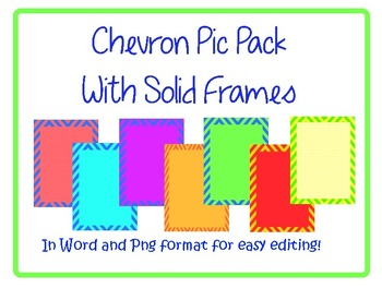 FREE, FUN Chevron Pic Pack - Commercial or Personal Use