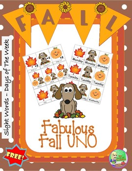 FREE Fabulous Fall UNO (Days of The Week)