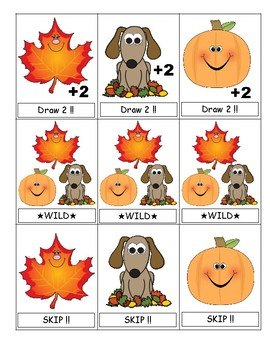 FREE Fabulous Fall UNO (Number Words)