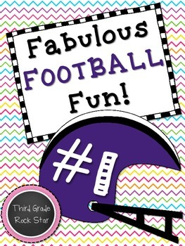 *FREE* Fabulous Football Fun Math Word Problem Task Cards