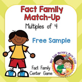 Fact Family Match Multiples of 4 (Free Sample)