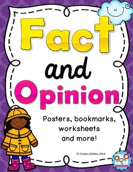 Fact and Opinion Posters FREE