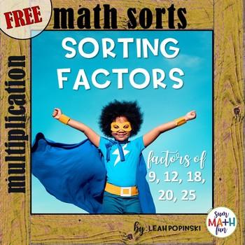 FREE Math Sorts - Factor Center