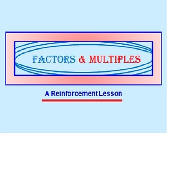 FREE Factors Multiples Powerpoint Preview