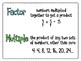 FREE Factors and Multiples Posters