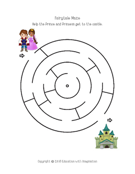 FREE Fairytale Mazes