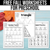 FREE Fall Activities For Kindergarten (Math & Literacy No Prep)