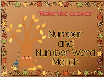 FREE Autumn Number Word Match
