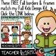FREE Fall Borders & Frames for Teachers * Back to School