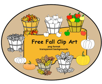 free fall clip art in png format with transparent backgrounds tpt rh teacherspayteachers com fall clip art free downloads microsoft fall clip art free printable