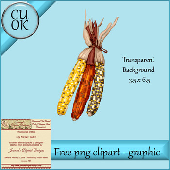 FREE Fall Corn Clipart - Graphic