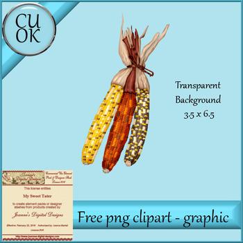 FREE Fall Corn Clipart - Graphic