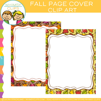 Free Fall Page Cover Clip Art