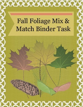 FREE Fall Foliage Matching Task