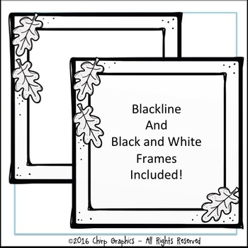 FREE Fall Frames Clip Art Set - Chirp Graphics