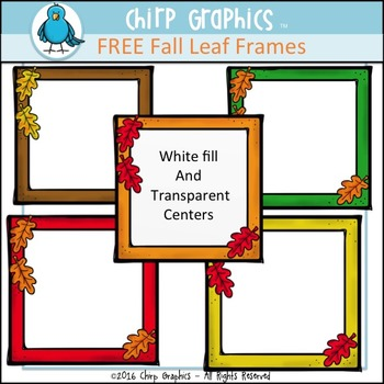 FREE Fall Frames Clip Art Set - Chirp Graphics