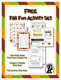 FREE Fall Fun Activity Set ~ Strip Reader, Activity Book & Multiplication Sheet
