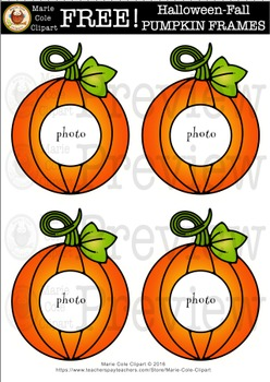 FREE!!! Fall-Halloween PUMPKIN FRAME Printables [Marie Cole Clipart]