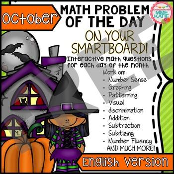 FREE Fall Halloween Thanksgiving October SmartBoard Math P