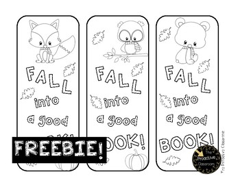FREE Fall Into Reading Bookmarks!