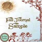 FREE Fall Journal Sample, HOMESCHOOL (pre-k, kinder, 1st,