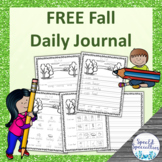 FREE Fall Journal Writing for Special Education (September)