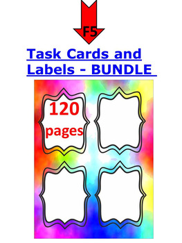 FREE Labels - Task Card