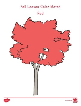FREE Fall Leaves Color Match Activity
