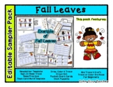 FREE - Fall Leaves - Editable Resource Sampler Pack - 13 pages *o