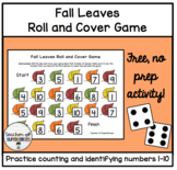 FREE Fall Leaves Roll and Cover Game (Numbers 1-10)