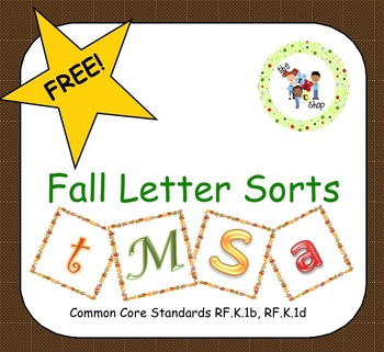 FREE! Fall Letter Sorts for M S A T