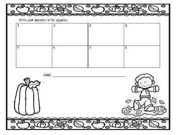 FREE Fall MATH Task Cards (2nd/3rd grade)