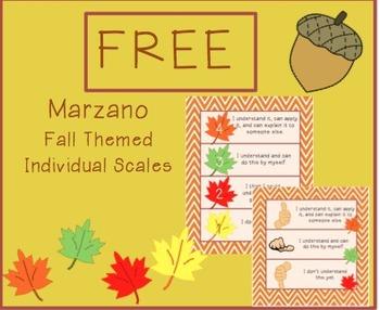 FREE Fall Marzano Scales