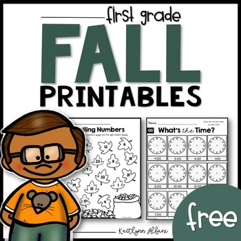 FREE Fall Math and Literacy Printables - First Grade