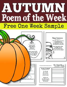 FREE Fall Poem of the Week (One Week Sample)