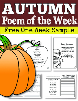 FREE Fall Poem of the Week (One Week Sample)