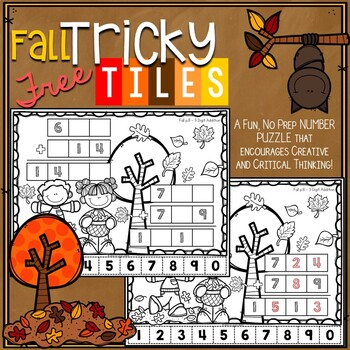 FREE Fall Math Problem Solving Activity - Tricky Tiles