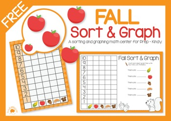 FREE Fall Sort and Graph - Math Center FUN!