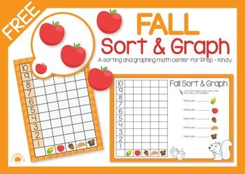 FREE Fall Sort and Graph - Math Center FUN!