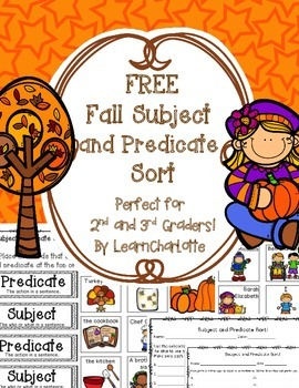 FREE Fall Subject and Predicate Sort