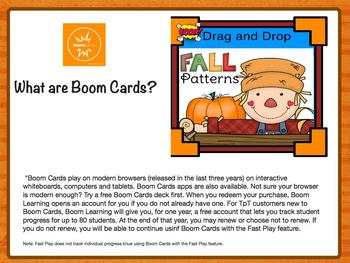 FREE Sample: Fall Theme Patterns
