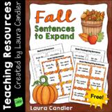 Fall Sentences (Free)