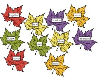 FREE Fall Vocabulary - Synonyms and Antonyms