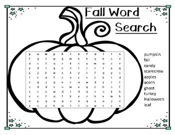 FREE Fall Word Search