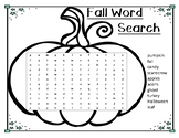 FREE Fall Word Search
