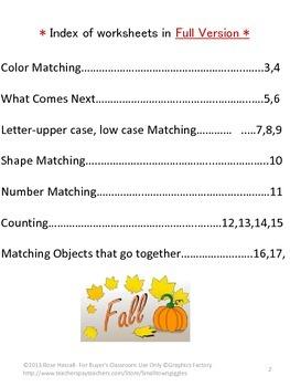 FREE: Falling Autumn Leaves Cut and Paste Sampler