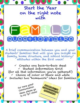 Family Communication / Survey to start the year right!